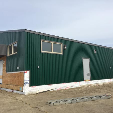 Green Metal Siding